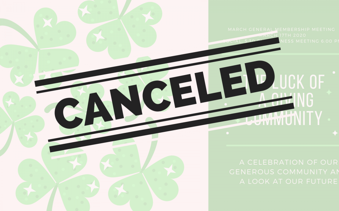 March GMM Canceled